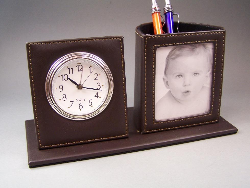 3in1 bureau organiseur horloge r veil cadre photo stylet. Black Bedroom Furniture Sets. Home Design Ideas
